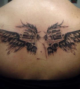 angel guns tattoo