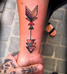 arrow tattoos colorful