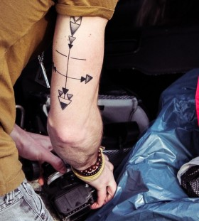 arrow tattoos compass