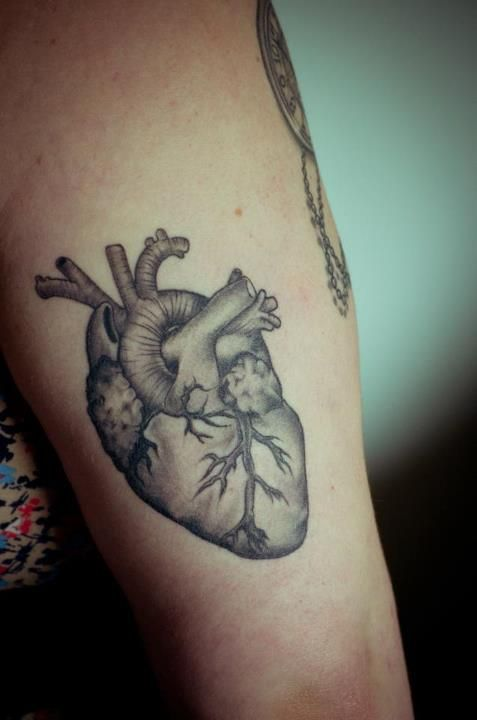 black heart tattoo anatomical