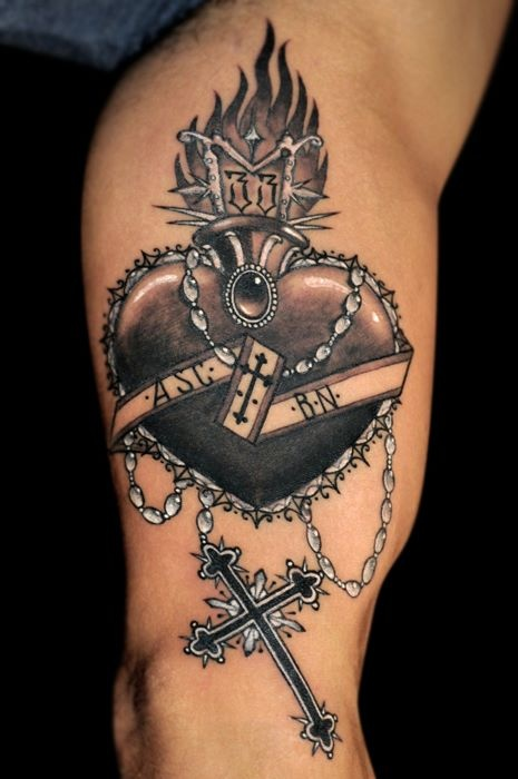 black heart tattoo  by kid kros