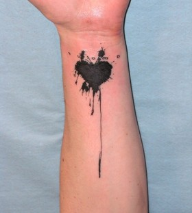 black heart tattoo lionel