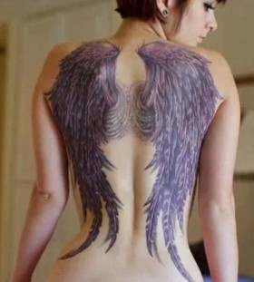 black wings tattoo all way down