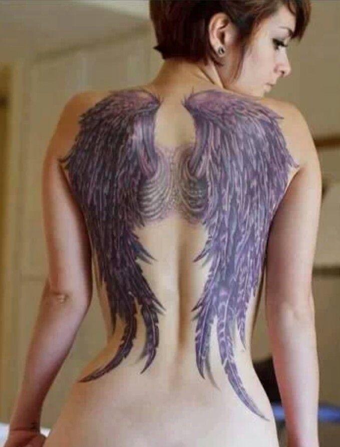 black wings tattoo all way down
