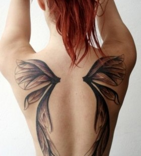 black wings tattoo fairy wing