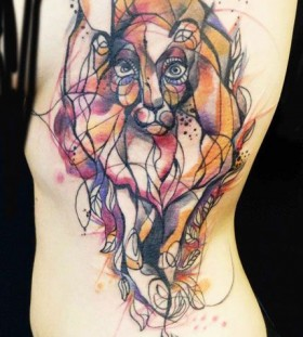 bright color animal tattoos magic creature