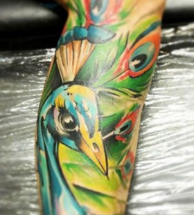 bright color animal tattoos pow