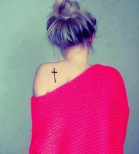 cross on back for girl