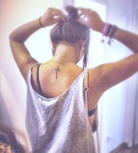 cross tattoo cute placement