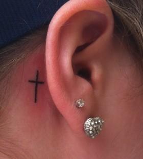 cross tattoo earrings