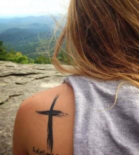 cross tattoo galatians