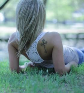 cross tattoo tayler smith
