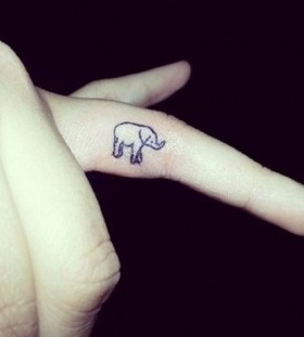 finger tattoo elephant