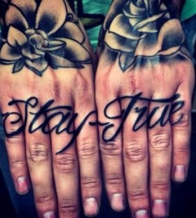 finger tattoo stay true