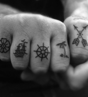 finger tattoo symbolic