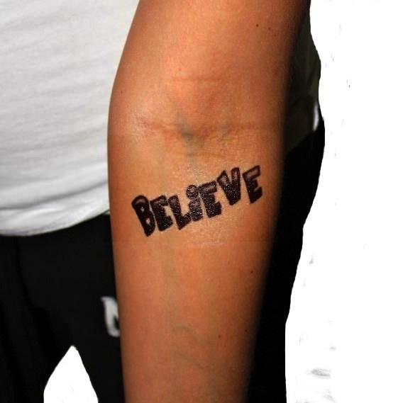 justin bieber tattoo believe