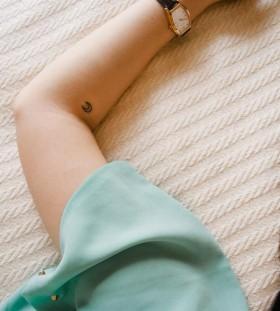 moon tattoo small