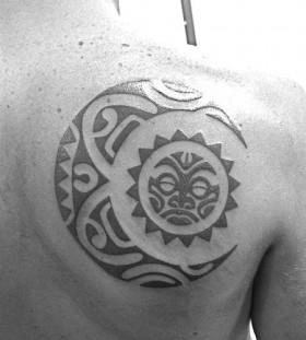 moon tattoo tribal