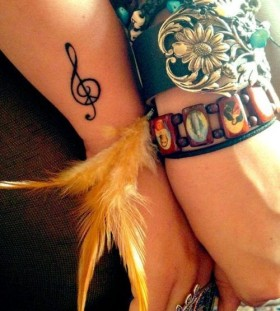 music tattoo small