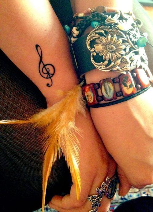 music tattoo small