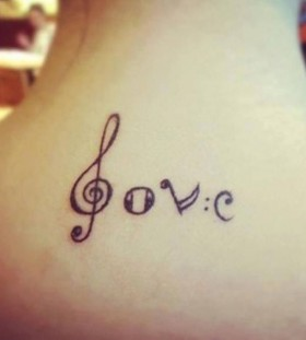 music tattoos love