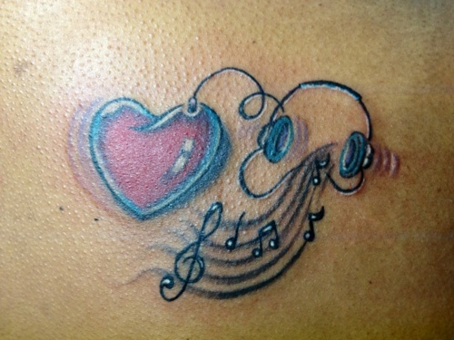 music tattoos love music