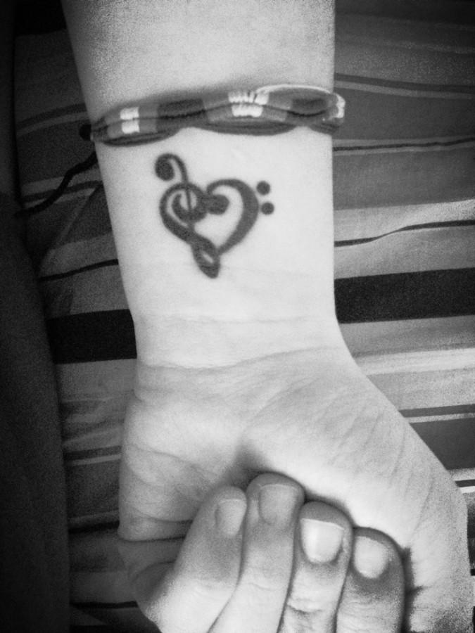 music tattoos minimal