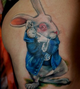 photorealistic tattoo alice charachter