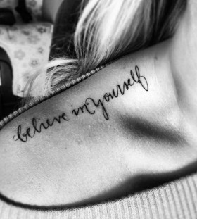 shoulder tattoo believe