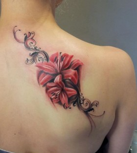 shoulder tattoo flower girl