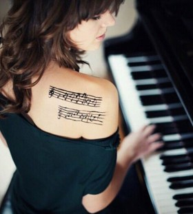 shoulder tattoo for music
