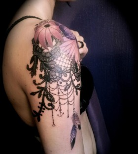 shoulder tattoo lily for women