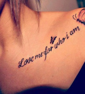 shoulder tattoo love me