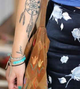 small Dreamcatcher Tattoo upper wrist