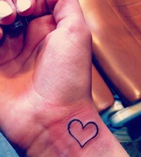 small purple tattoo heart ornament