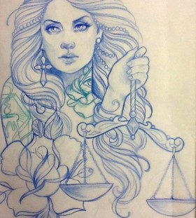 tattoo sketch by steffi Boecker