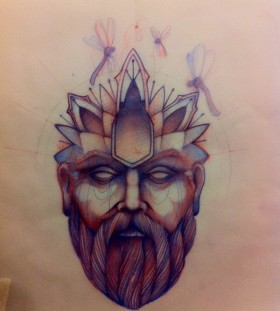 tattoo sketch head man