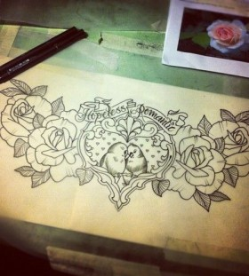 tattoo sketch hopeless romantic