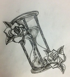 tattoo sketch hour glass