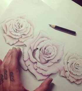 tattoo sketch rose masterpeace