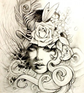 tattoo sketch victorian style