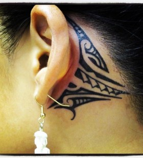 tribal tattoo for girls ears