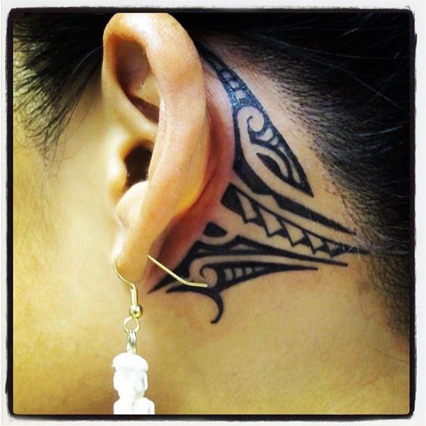 tribal tattoo for girls ears