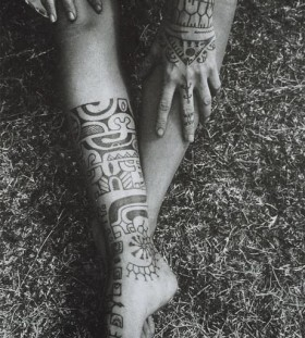 tribal tattoo for girls on foot