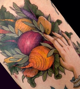 vegetable tattoo beatrot