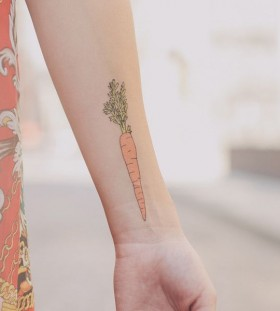 vegetable tattoo carrot