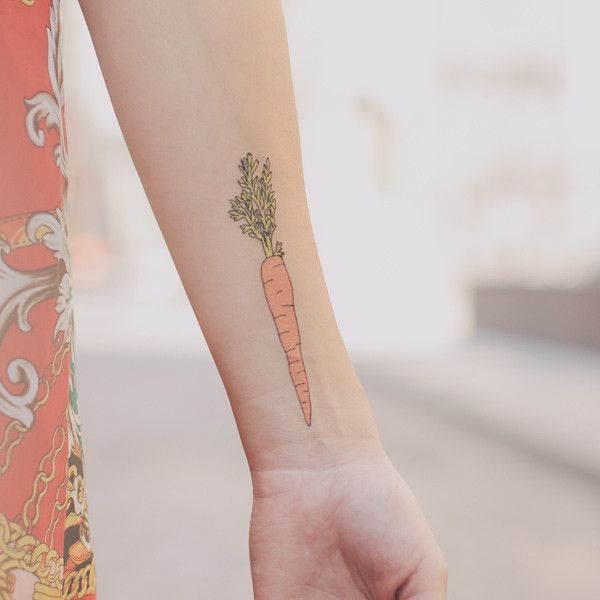 vegetable tattoo carrot