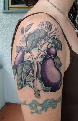 vegetable tattoo eggplant