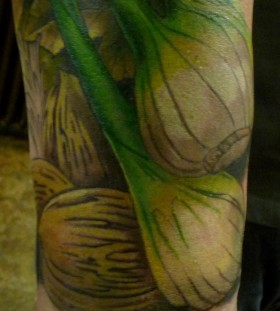 vegetable tattoo fennel tattoo