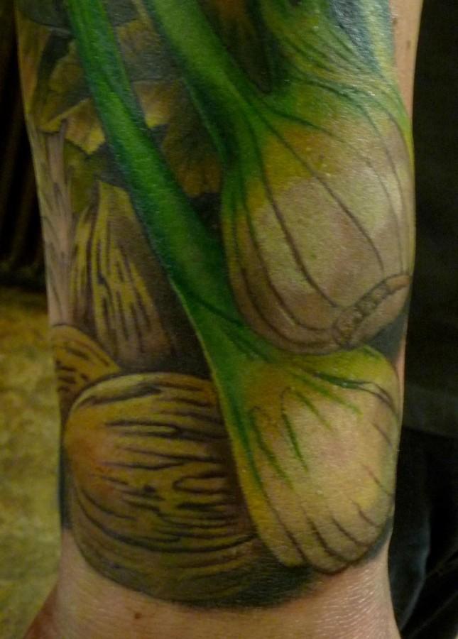 vegetable tattoo fennel tattoo